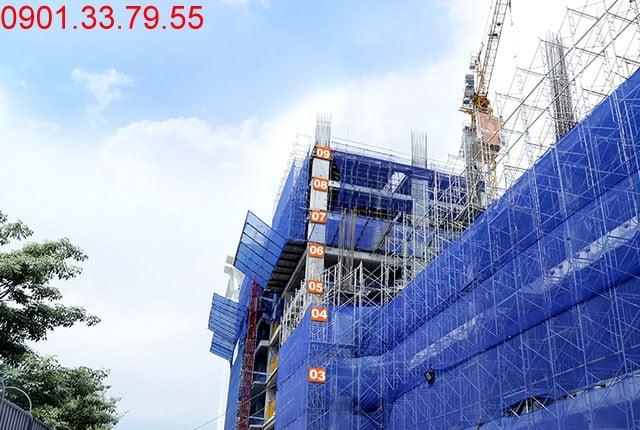 Hoàn thành đổ bê tông sàn tầng 9 - block Southern căn hộ Saigon Mia