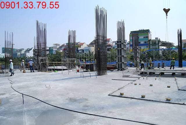 Hoàn thành đổ bê tông sàn tầng 2 - block Southern Saigon Mia Trung Sơn