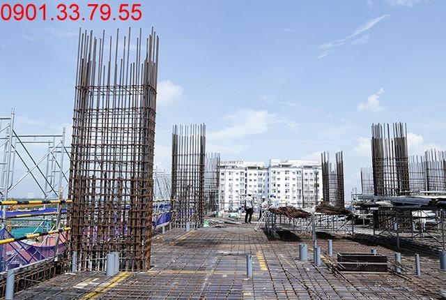 Thi công cốt thép sàn tầng 7 - block Southern Sai gon Mia Trung Son