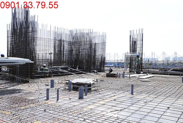 Thi công cốt thép sàn tầng 7 - block Southern Sai gon Mia Hung Thinh