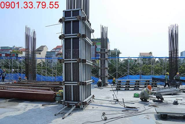 Thi công cột sàn tầng 3 - block Southern dự án Saigon Mia Hưng Thịnh