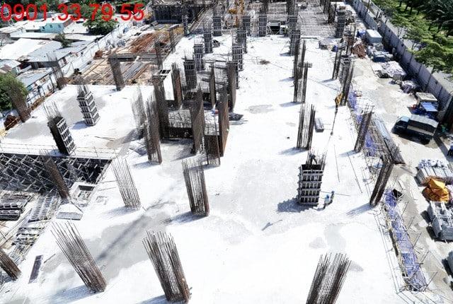 Thi công cột sàn tầng 3 - block Central Sài gòn Mia Trung Sơn