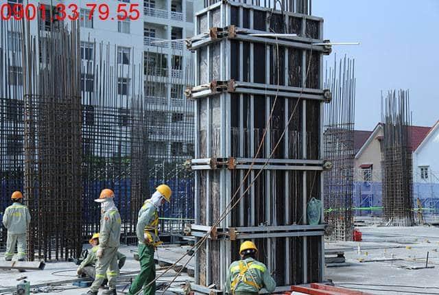 Thi công cột sàn tầng 3 - block Southern căn hộ Saigon Mia Hưng Thịnh