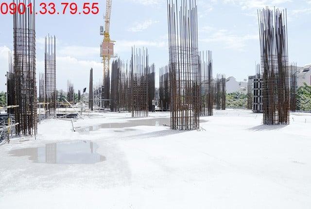 Thi công cột sàn tầng 3 - block Central Sài gòn Mia Hưng Thịnh