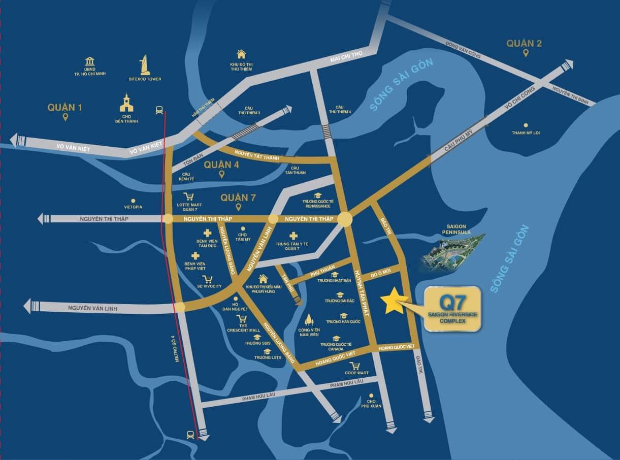 Vị trí dự án Q7 Saigon Riverside Complex